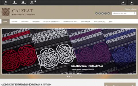 Screenshot of Contact Page calzeat.com - Calzeat luxury bed throws and scarves made in Scotland    Calzeat - captured Sept. 27, 2014