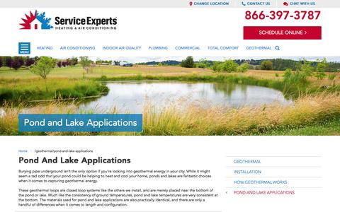 Geothermal Pond and Lake Applications | Service Experts Heating & Air Conditioning in your city