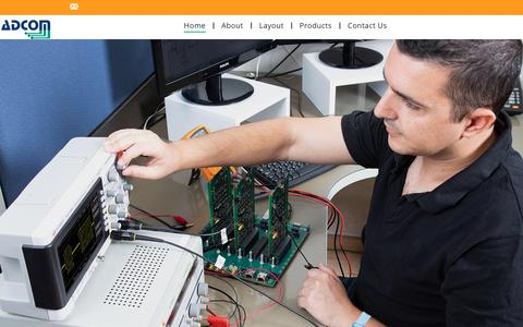 Screenshot of Home Page adcom.co.il - Adcom Computers and Communication - captured Oct. 3, 2018
