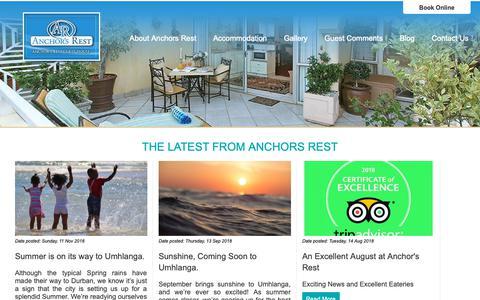 Screenshot of Blog anchorsrest.co.za - Anchors Rest | Blog - captured Nov. 12, 2018