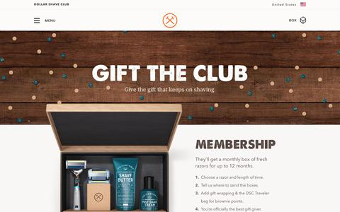 Gift The Club - Subscription Shave Box & Gift Cards | Dollar Shave Club
