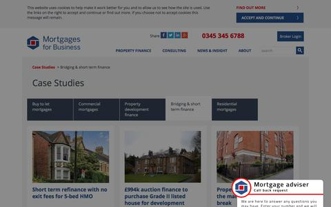 (1) Bridging finance case studies | Mortgages for Business
