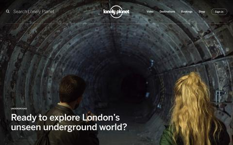 Screenshot of Home Page lonelyplanet.com - Lonely Planet | Travel Guides & Travel Information - Lonely Planet - captured Sept. 26, 2019