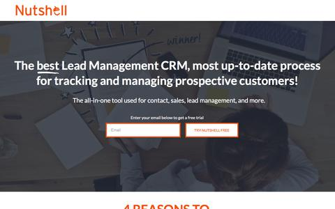 Screenshot of Landing Page nutshell.com - Nutshell | Small business CRM software for B2B sales teams - captured Aug. 11, 2017