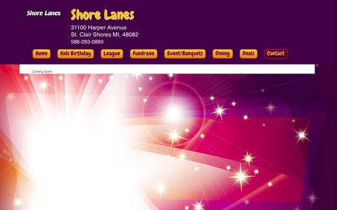 Screenshot of About Page shorelanesbowling.com - Shore Lanes Inc > Contact > About Us! - captured Dec. 29, 2016