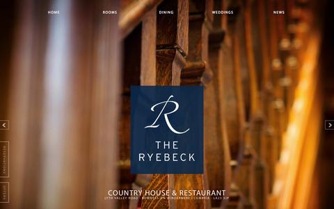 Screenshot of Home Page ryebeck.com - The Ryebeck Hotel & Restaurant | Bowness-on-Windermere - captured Jan. 27, 2015