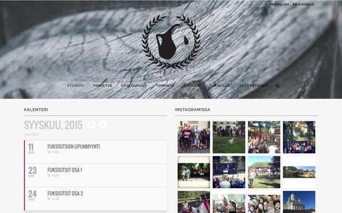 Screenshot of Home Page kannunvalajat.fi - Kannunvalajat | Valtiotieteellisen opiskelijajärjestö - captured Sept. 6, 2015