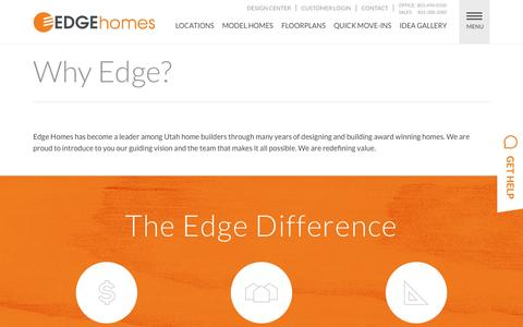 Screenshot of About Page edgehomes.com - Utah Home Builders | Learn Our Process | EDGE Homes - captured April 6, 2016