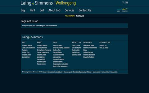Screenshot of Services Page Terms Page lswollongong.com.au - Page not found - captured Oct. 22, 2014