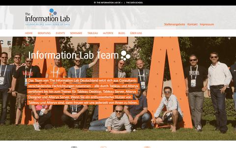 Screenshot of Team Page theinformationlab.de - Our Team - The Information Lab - captured March 22, 2018