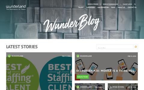 Screenshot of Blog wunderlandgroup.com - The WunderBlog - captured Feb. 17, 2018