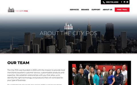 Screenshot of About Page Contact Page thecitypos.com - about us - The City POS - captured Nov. 18, 2018