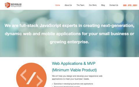 Screenshot of Home Page briebugsoftwaresolutions.com - BrieBug Software Solutions   Web & Mobile App Development  AngularJS Denver   HTML5 - captured March 6, 2016