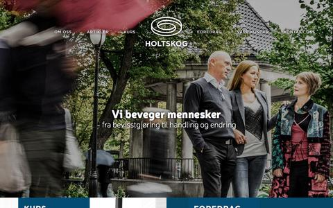 Screenshot of Home Page holtskog.no - Holtskog - captured Sept. 19, 2015