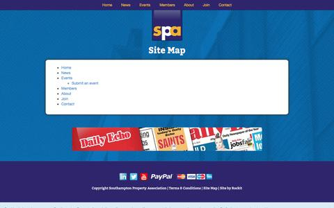 Screenshot of Site Map Page southamptonpropertyassociation.co.uk - Southampton Property Association Est. 1948 | Find a Property Professional - captured Oct. 7, 2014