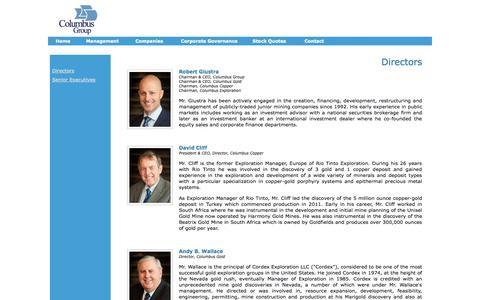 Screenshot of Team Page columbusgroup.com - Columbus Group - captured Oct. 8, 2014