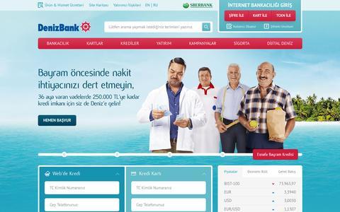 Screenshot of Home Page denizbank.com - Hayat Deniz'de G�zel! | DenizBank - captured Sept. 17, 2015