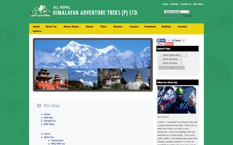 Screenshot of Site Map Page igonepal.com - Trekking in Nepal, Tour in Nepal, trek nepals - captured Sept. 19, 2014