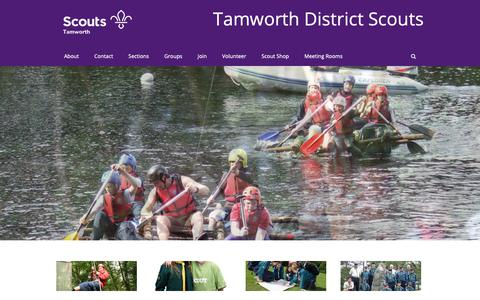Screenshot of Home Page tamworthscouts.org.uk - Tamworth Scouts - scouting for all ages in Tamworth Staffordshire UK - captured Nov. 19, 2018