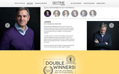 Screenshot of Team Page skytimejets.com - Our Team | Who We Are - Skytime Jets - captured Aug. 14, 2016