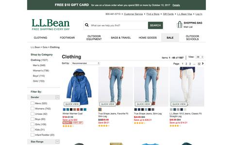 Clothing | Free Shipping at L.L.Bean.