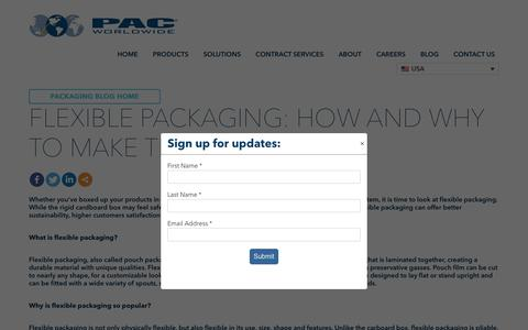 Screenshot of Trial Page pac.com - Flexible Packaging: How and Why to Make the Switch - PAC Worldwide - captured Nov. 5, 2019