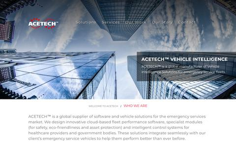 Screenshot of About Page atsr.ie - ACETECH™ Our Story - Emergency Vehicle Solutions Company - captured Oct. 4, 2018
