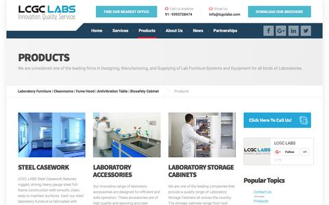 Screenshot of Products Page lcgclabs.com - Laboratory Products | LCGC Labs - captured April 4, 2017