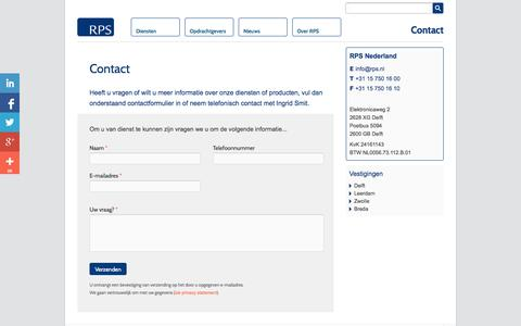 Screenshot of Contact Page rps.nl - Contact - captured Oct. 6, 2014