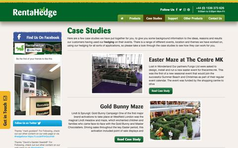 Screenshot of Case Studies Page rentahedge.com - Projects & Case Studies | Hedging & Plant Hire Solutions | Rent a Hedge - captured Oct. 20, 2018