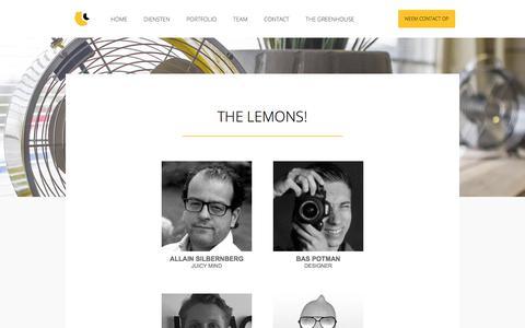 Screenshot of Team Page bitethelemon.nl - BTL Marketing - Team - captured Oct. 10, 2017
