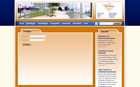 Screenshot of Login Page lokbel.nl - Academie Lokale Belastingen - captured Oct. 4, 2014