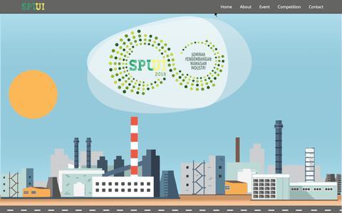 Screenshot of Home Page spwi-ui.com - SPWI UI 2018 - Seminar Pengembangan Wawasan Industri - captured Feb. 16, 2018