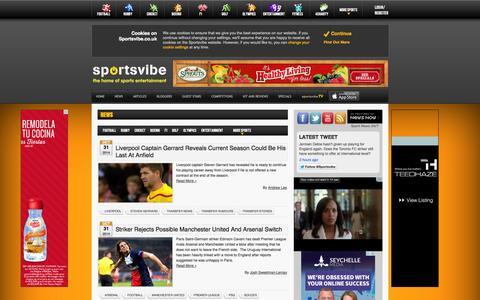 Screenshot of Press Page sportsvibe.co.uk - News | Sportsvibe.co.uk » Sportsvibe.co.uk - captured Oct. 31, 2014
