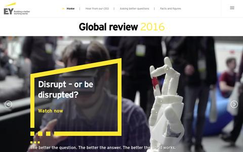 Screenshot of ey.com - EY Global Review 2016 - EY - Global - captured Oct. 7, 2016