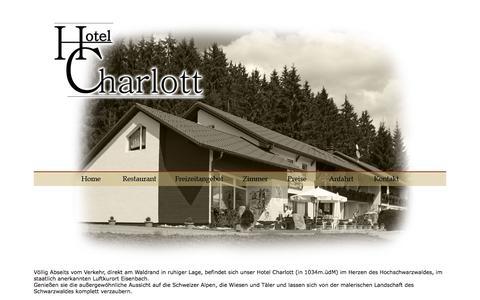 Screenshot of Home Page hotel-charlott.de - Hotel Charlott - captured June 9, 2016