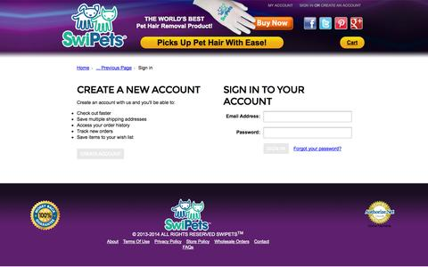 Screenshot of Login Page mybigcommerce.com - SwiPets, LLC - Sign in - captured Sept. 18, 2014