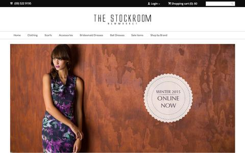 Screenshot of Home Page the-stockroom.co.nz - The Stockroom | Buy Clothing Online | Status Anxiety Stockists - captured Aug. 30, 2015