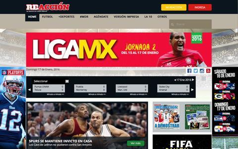 Screenshot of Home Page reacciondeportes.com - Reacción Deportes México - captured Jan. 17, 2016