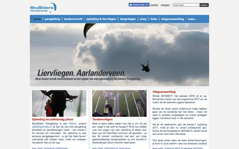 Screenshot of Home Page skygliders.nl - SkyGliders - home page - captured Dec. 3, 2016