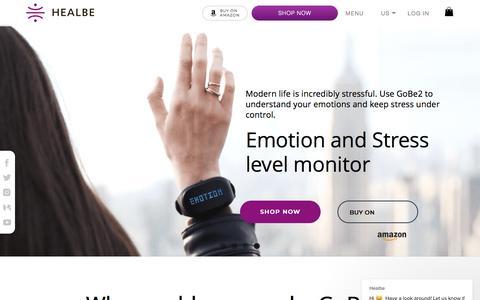 Screenshot of Home Page healbe.com - Healbe says… - captured July 8, 2019