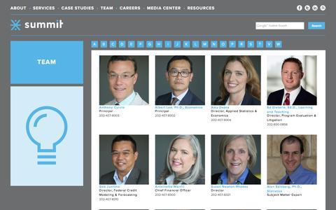 Screenshot of Team Page summitllc.us - Team Archive - Data Analytics and Program Evaluation | Summit | Data Analytics and Program Evaluation | Summit - captured Dec. 1, 2015