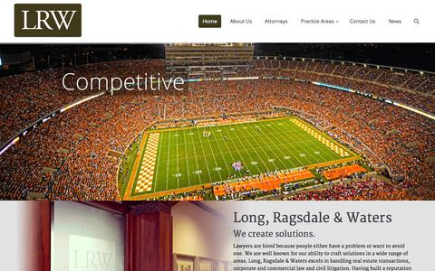 Screenshot of Home Page lrwlaw.com - Long, Ragsdale and Waters | - captured Oct. 3, 2014