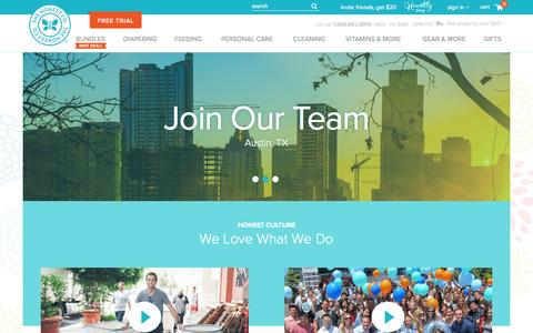 Screenshot of Jobs Page honest.com - Careers | Jobs at The Honest Company - captured Oct. 26, 2015