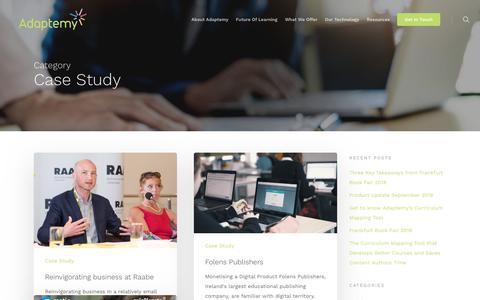 Screenshot of Case Studies Page adaptemy.com - Case Study Archives - Adaptemy - captured Nov. 6, 2018