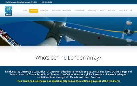 Screenshot of About Page londonarray.com - London Array |   About Us - captured Oct. 3, 2014