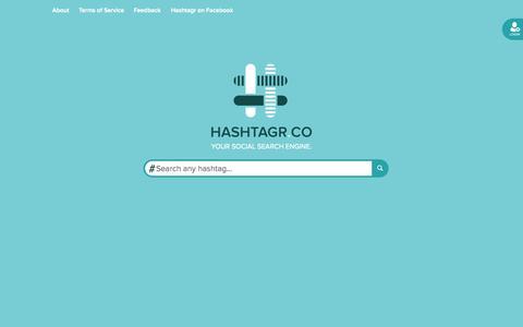 Screenshot of Home Page hashtagr.co - Hashtagr | Hashtag Aggregator - captured Sept. 18, 2014