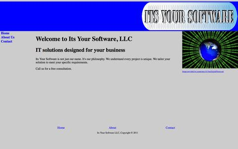 Screenshot of Home Page itsyoursoftware.com - Its Your Software - captured Oct. 6, 2014