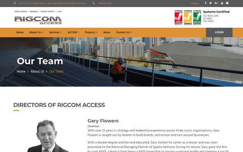 Screenshot of Team Page rigcomaccess.com - Our Team | RIGCOM Access - captured Sept. 21, 2018