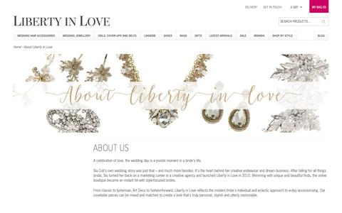 Screenshot of About Page libertyinlove.co.uk - About Liberty in Love - captured Jan. 29, 2016